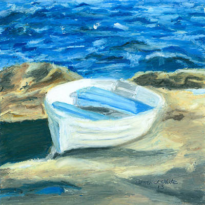 Row Boat In York Maine Art Print by Dominic White