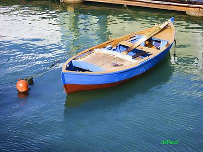 Row Boat Digital Art - Row Boat Port by KJ DePace