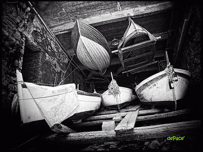 Row Boat Digital Art - Row Boat Storage by KJ DePace