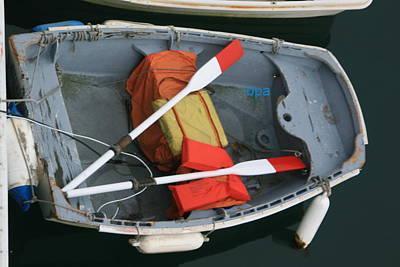 Row Boat Digital Art - Row Boat Uncrossed Oars by Lester Schwabe