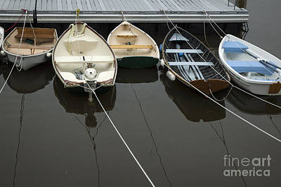 Target Project 62 Abstract - Row Boats by Ruth H Curtis