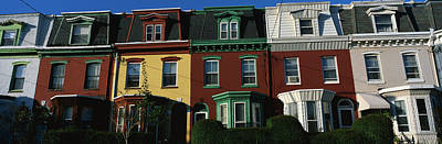 Lodging Photograph - Row Houses Philadelphia Pa by Panoramic Images