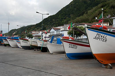 Photograph - Row Of Boats On Dock by Joseph Amaral