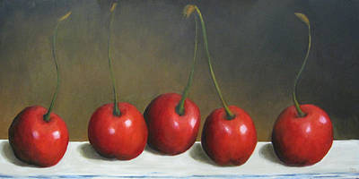Painting - Row Of Cherries by Marie-louise McHugh