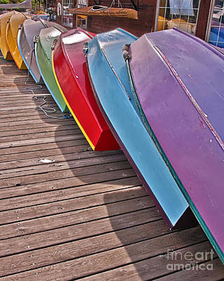 Photograph - Row Of Colorful Boats Art Prints by Valerie Garner