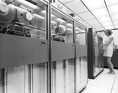 Indiana Photograph - Row Of Computer Tape Drives by Underwood Archives