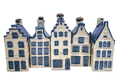 Photograph - Row Of Delft Blue Houses by Patricia Hofmeester