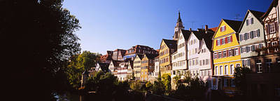 Row Of Houses In A City, Tuebingen Art Print by Panoramic Images