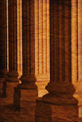 Row Of Large Columns Art Print by Don Hammond