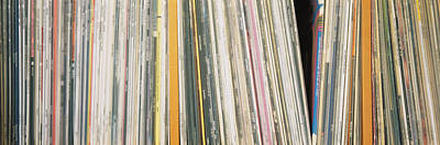 Of In A Frame Photograph - Row Of Music Records, Germany by Panoramic Images