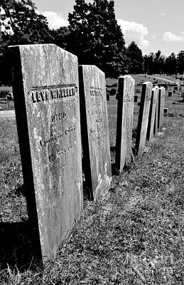 Photograph - Row Of Old Headstones by Staci Bigelow