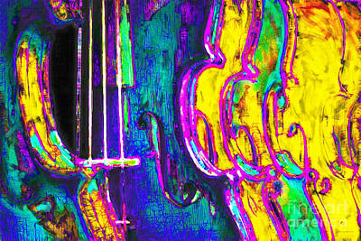 Row Of Violins - 20130129v2 Print by Wingsdomain Art and Photography