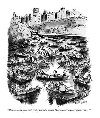 Row, Row, Row Your Boat, Gently Down The Stream Art Print