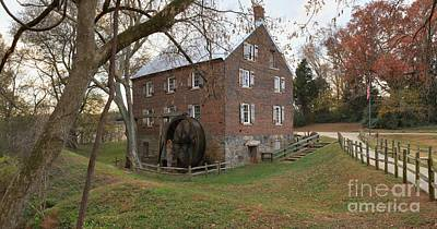 Rowan County Nc Grist Mill Art Print by Adam Jewell