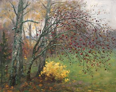 Valentines Day - Rowan tree in autumn by Alexander Alexandrovsky