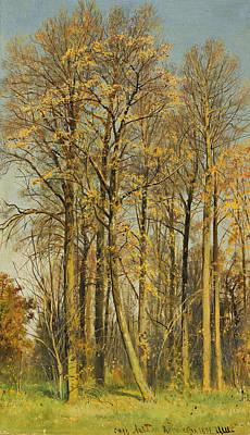 Rowan Tree Painting - Rowan Trees In Autumn by Ivan Shishkin