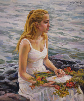 Painting - Rowan Wreath by Serguei Zlenko
