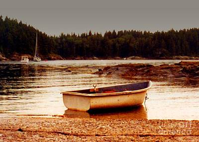 Photograph - Rowboat At Rest by Desiree Paquette