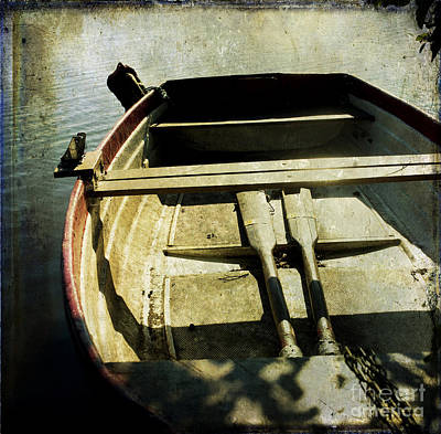 Anticipation Photograph - Rowboat by Bernard Jaubert