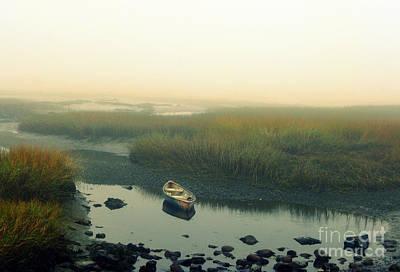 Photograph - Rowboat In A Rocky Marsh by Patricia Januszkiewicz