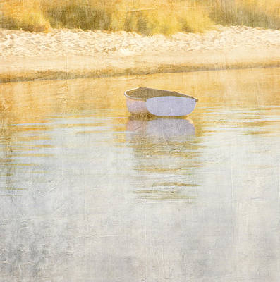 Golden Digital Art - Rowboat In The Summer Sun by Carol Leigh