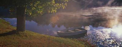 Rowboat Lake Nh Art Print