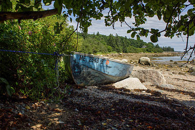 Photograph - Rowboat On Beach by Kirkodd Photography Of New England