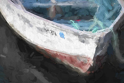 Dory Photograph - Rowboat Painterly Effect by Carol Leigh