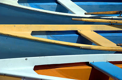 Backgrounds Photograph - Rowboats by Chevy Fleet