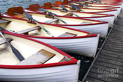 Oars Photograph - Rowboats by Elena Elisseeva