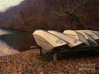 Photograph - Rowboats by Jeff Breiman