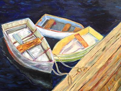 Painting - Rowboats by Joanne Killian