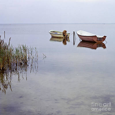 Ambience Photograph - Rowboats On Nonnensee by Heiko Koehrer-Wagner