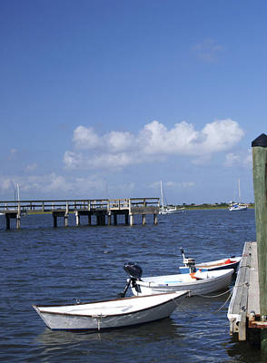 Photograph - Rowboats Tied To Dock by Bob Pardue