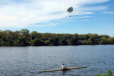 Philadelphia Photograph - Rower And Balloon by Hugh Smith
