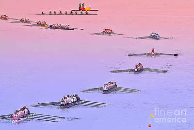 Rowers Arc Art Print by Gary Holmes