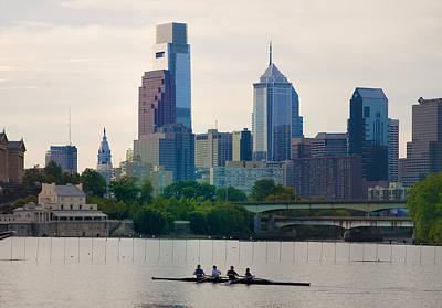 Rower Digital Art - Rowers In Philadelphia by Bill Cannon