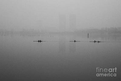Photograph - Rowers On The Lake by Dean Harte