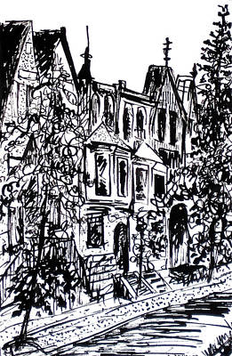Rowhouses Art Print