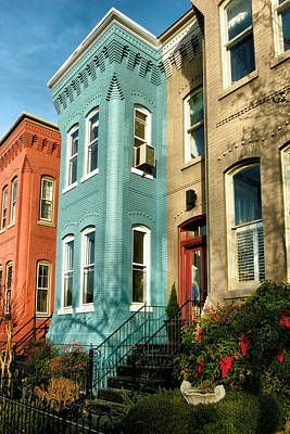 Rowhouses Of Eastern Market Xii Art Print by Steven Ainsworth