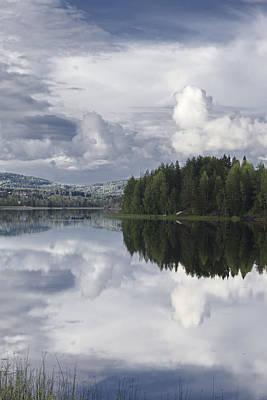 Rowing Boat At A Calm Lake Original