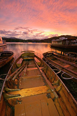 Ambleside Wall Art - Photograph - Rowing Boats At Waterhead Ambleside by Ashley Cooper