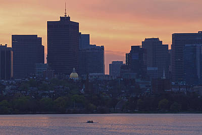 Sports Photograph - Rowing Boston by Juergen Roth