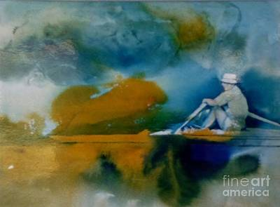 Painting - Rowing by Donna Acheson-Juillet