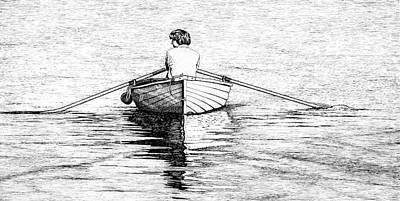 Photograph - Rowing Home by Douglas J Fisher
