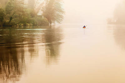 Photograph - Rowing In The Mist by Alfio Finocchiaro