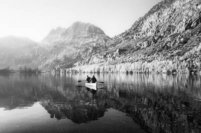 Photograph - Rowing Into The Mist by Priya Ghose