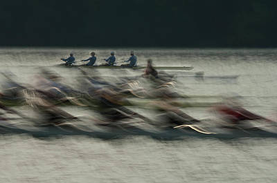 2011 Photograph - Rowing by Milan Malovrh