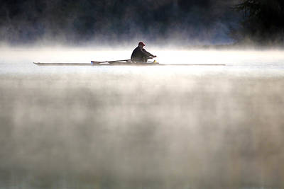 Photograph - Rowing by Mitch Cat