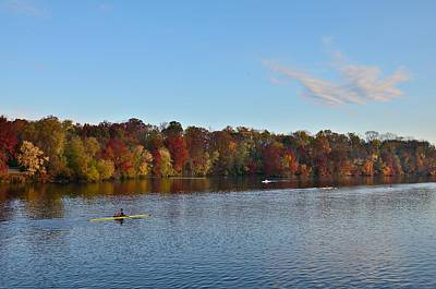 Princeton Photograph - Rowing On Lake Carnegie by Steven Richman